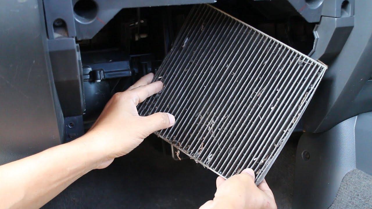 ล้างกรองแอร์รถยนต์(ทำเองได้) How to Cleaning Car Air Conditioner filter