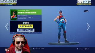 FORTNITE NEW SKIN, STARS AND STRIPES SET, fireworks team leader star-spangled