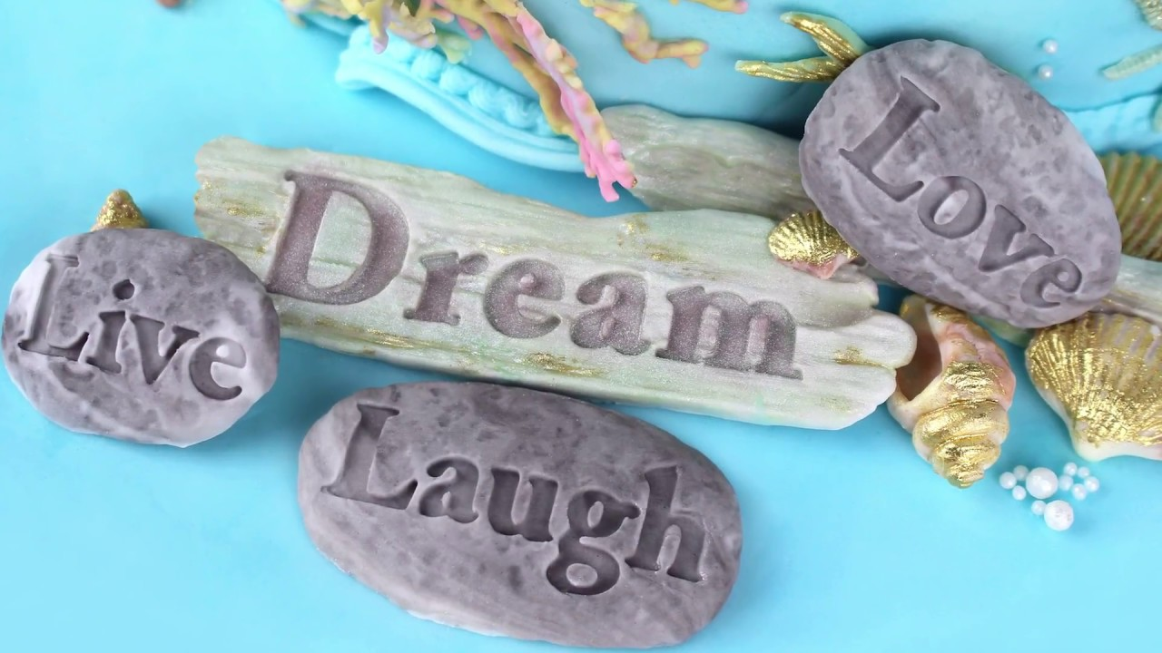 Dream Driftwood And Word Stones Cake Decorating Tutorial Seaside