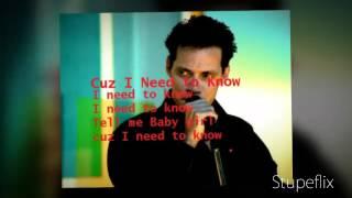 """Marc Anthony """"I NEED TO KNOW """" (With Lyrics)"""