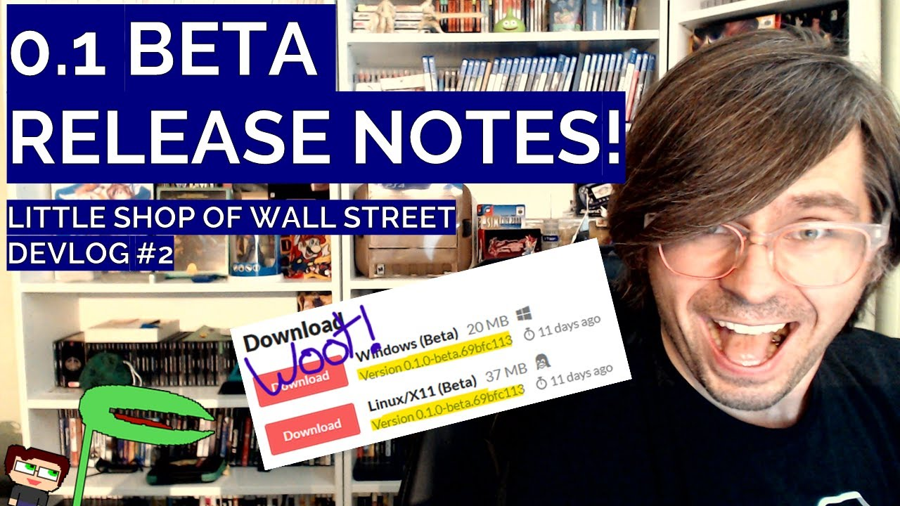 Thumbnail images for 0.1 Beta Release Notes | Little Shop of Wall Street Devlog #2 video