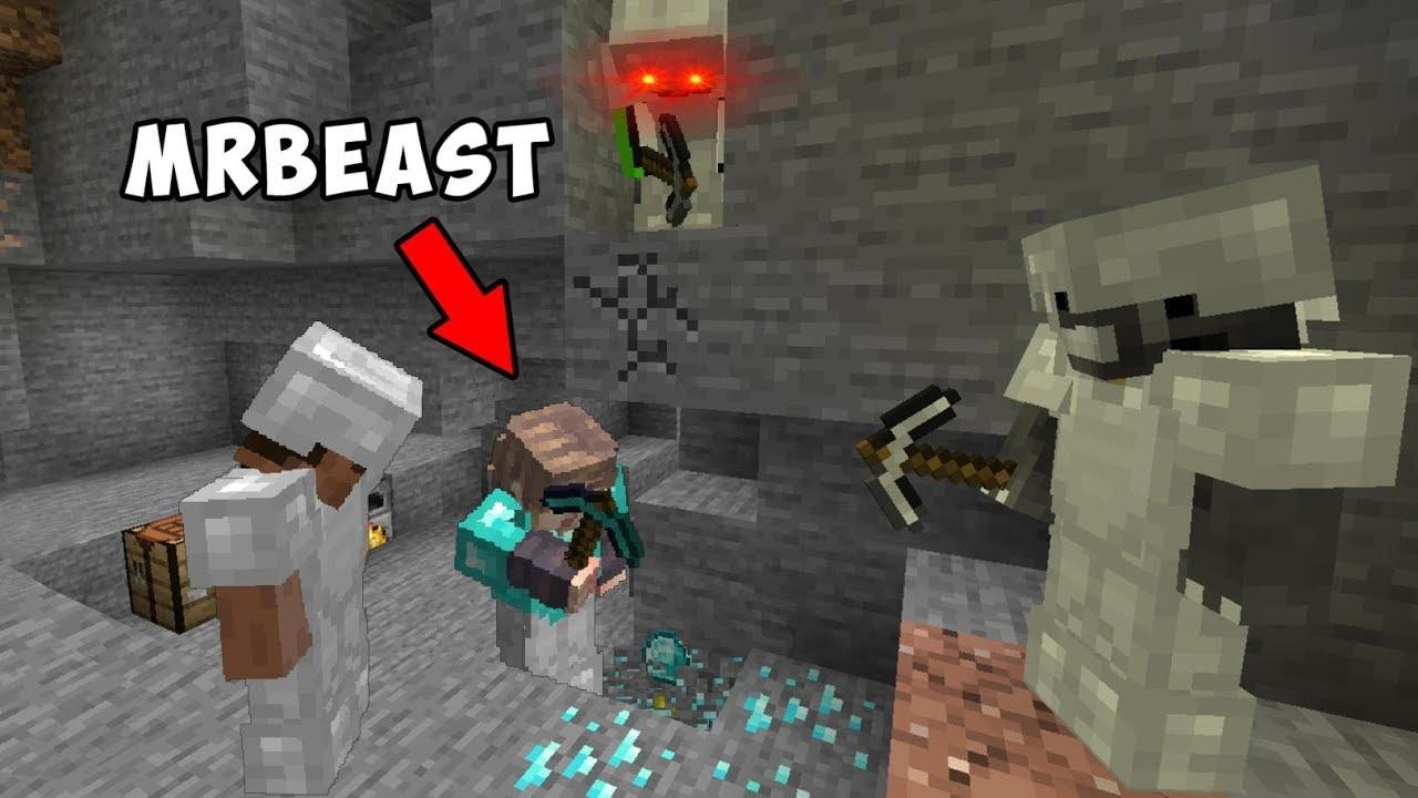 Download 3 Minecraft Speedrunners VS Hunter ft. MrBeast
