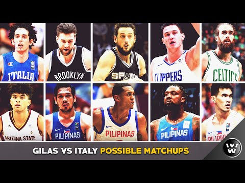 Gilas Pilipinas vs ITALY Possible Match ups | Clarkson vs Belinelli, Fajardo vs Bargnani