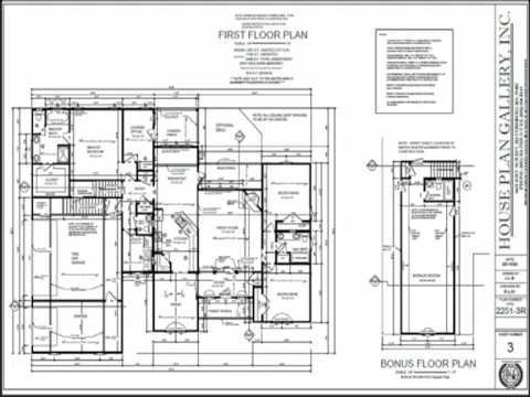 House Plan Gallery Floor Plans and Home Designs   YouTube