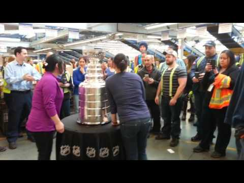 "Stanley Cup at Canada Post ""Pacific Processing Centre""!!! I KISSED IT!!!"