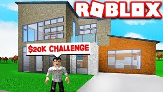 I DID THE $20,000 BLOXBURG HOUSE BUILD CHALLENGE!! (Roblox Bloxburg)