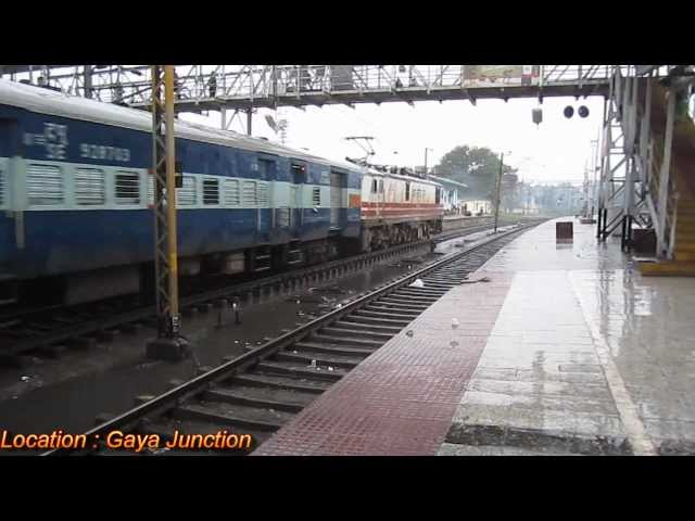 WAP-5 30024 hauled Jharkhand Sampark Kranti Express skipping Gaya Jn. Travel Video