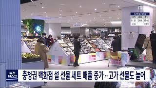 지역 백화점 설 선물 세트 매출액 증가/대전MBC