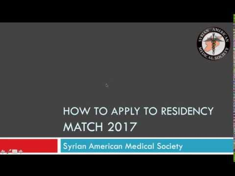 How to apply to residency? MATCH 2017