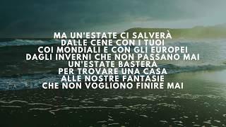 Max Pezzali - Un' estate ci salverà (Lyrics/Testo)
