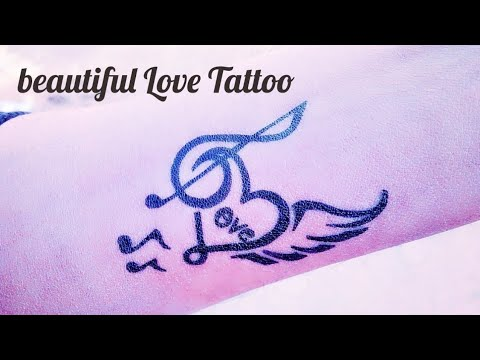 How To Make A Beautiful Love Tattoo By Tattoo By KK