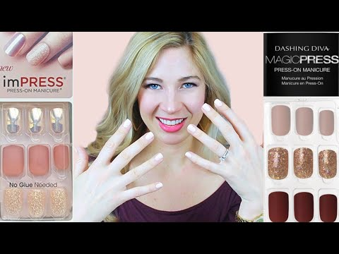 Which Press-On Nails Are Best? KISS ImPRESS Vs Dashing Diva Magic Press | Review, Demo, And Tips!