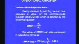 Lecture - 28 Characteristics of Operation Amplifier