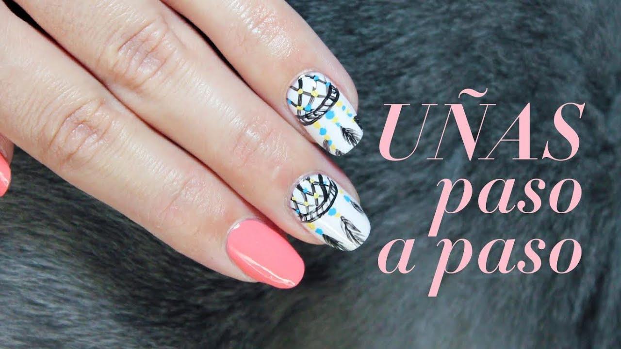 Decorar uñas con pintura acrílica: atrapasueños ...