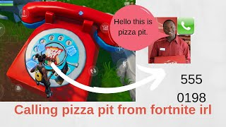 Calling the pizza pit from Fortnite in real life crazy outcome