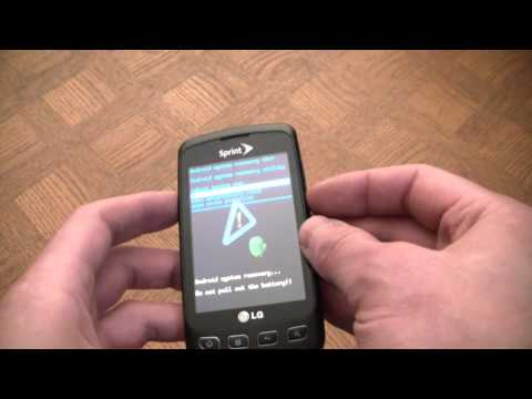 How To Hard Reset And Format An LG Optimus S Android Smart Phone