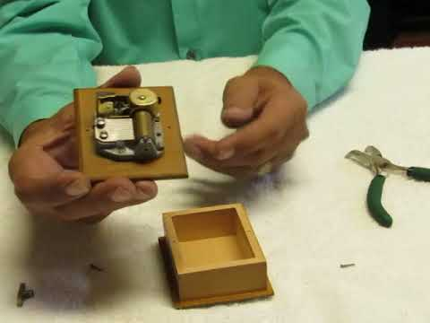 """Part 2 - How to Repair or Restart an """"over wound"""" music box movement MusicBoxMaker Video"""