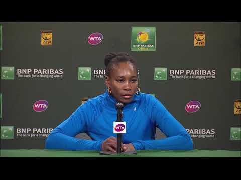 BNP Paribas Open 2018: Venus Williams SF Press Conference