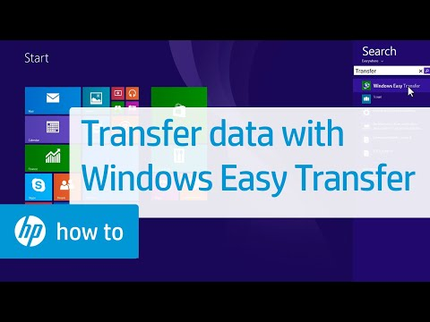 Transferring Information From One Computer To Another Computer Using Windows Easy Transfer | HP