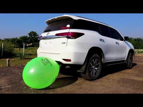 Balloon Vs Fortuner Car Silencer - Super Big Size Balloon Create