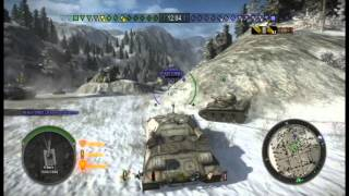 World of Tanks - Gameplay - Object 704, Mountain Pass