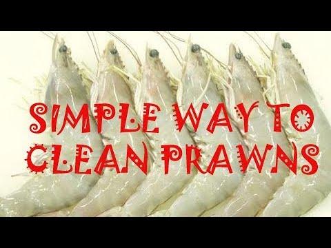 Simple way to Clean Prawns
