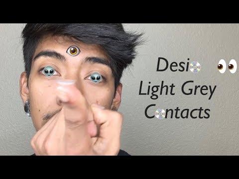 DESIO (TWO SHADES OF GREY) LIGHTER ON DARK BROWN EYES