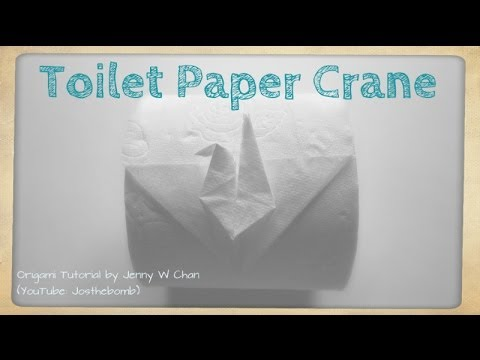 Toilet Paper Origami Crane How To Fold Origami Crane From Toilet