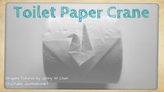 Toilet Paper Origami Crane - How to Fold Origami Crane From Toilet Paper Roll