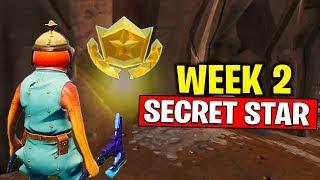WEEK 2 SECRET BATTLE STAR LOCATION! Fortnite Season 10 - Secret Battle Star Week 2