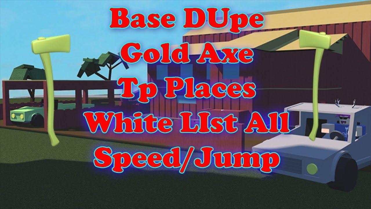 Lumber Tycoon 2 Golden Axe | Base Dupe | WhiteLIst
