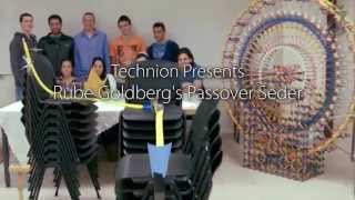 Passover Pesach 2015 Seder Rube Goldberg Machine from Technion in Israel