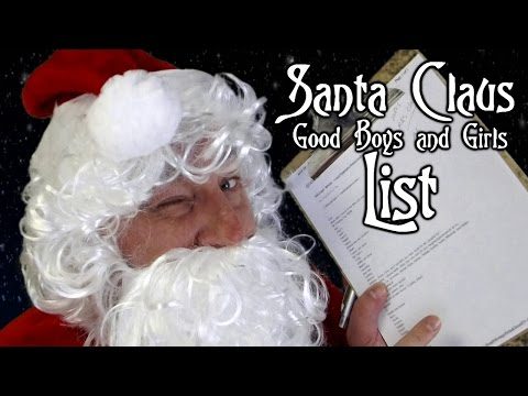 Santa Claus Reads Good List! ASMR 2016