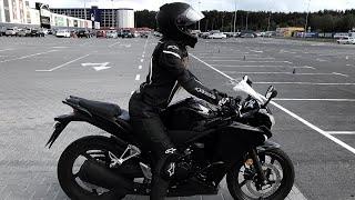 Учусь ездить на МОТОЦИКЛЕ ► Девушка на Honda CBR ✅