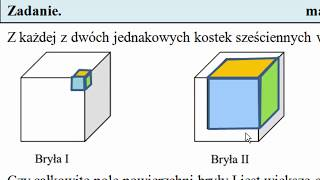 Zadanie 10. Wydrążony sześcian. Egzamin przykładowy ósmoklasisty CKE   MatFiz24.pl