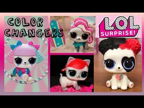 💦Which LOL PETS Color Change? | LOL SURPRISE! Series 3 Pets 💙