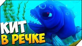 ОГРОМНАЯ СИНЯЯ РЫБА В РЕЧКЕ - Игра Feed and Grow Fish # 2 Игра как мультик для детей.