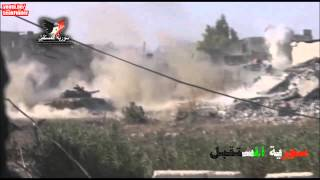 t 72 tanks in action syrian civil war
