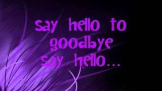 Shontelle - Say hello to goodbye (Lyrics)