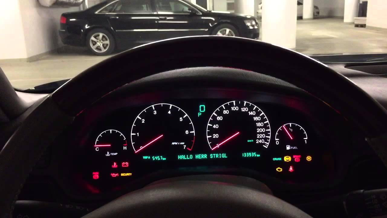 Cadillac Seville Northstar Sts 4 6 V8 Coldstart Cockpit View