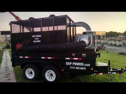 Gap Power Custom Self Contained Leaf Vacuum Trailer Youtube