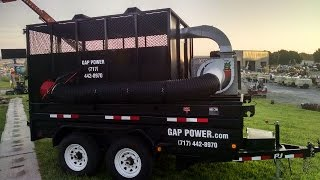 Gap Power Custom Self Contained Leaf Vacuum Trailer