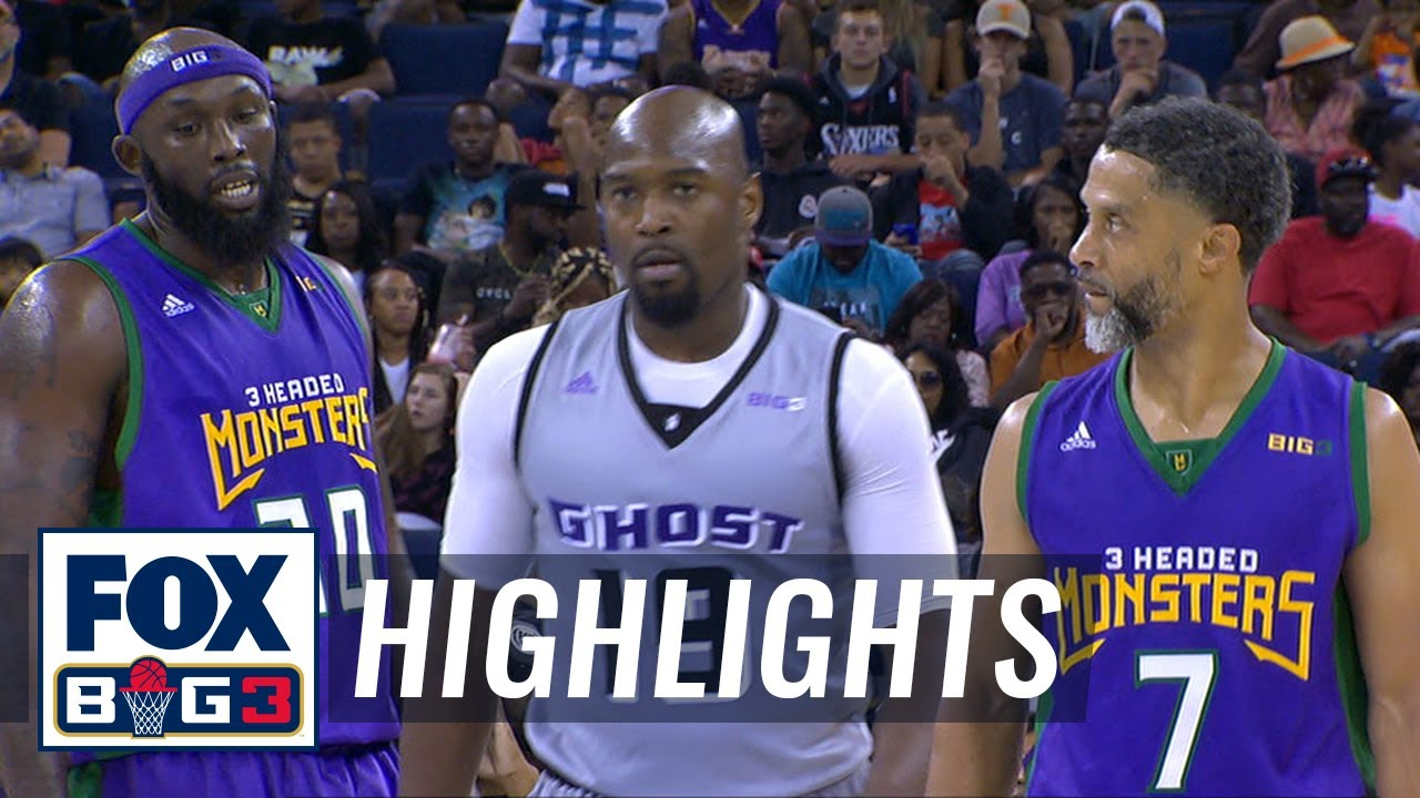 3 Headed Monsters vs Ghost Ballers | BIG3 HIGHLIGHTS