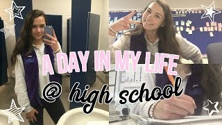 A DAY IN MY LIFE AT HIGH SCHOOL VLOG! (senior year)