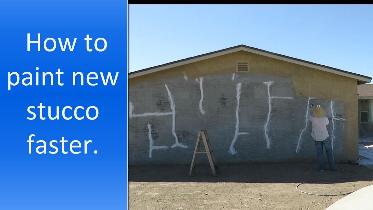 How to paint new stucco faster. The best way to paint exterior ...