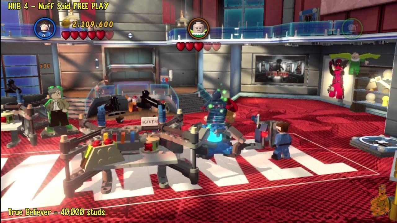 Lego Marvel Super Heroes: HUB 4 Nuff Said - FREE PLAY - HTG