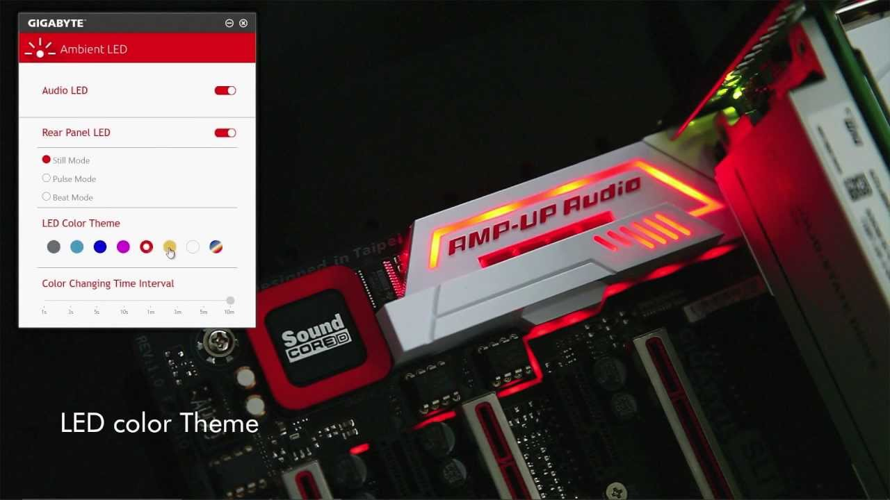 Gigabyte 100 Series Ambient Led You