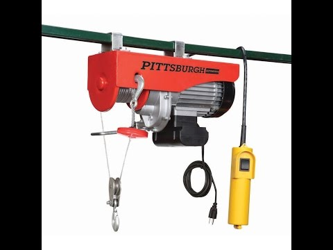 Harbor Freight Electric Hoist - Compressor Lift