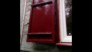 видео Ставни для окон на даче, деревянные, металлические