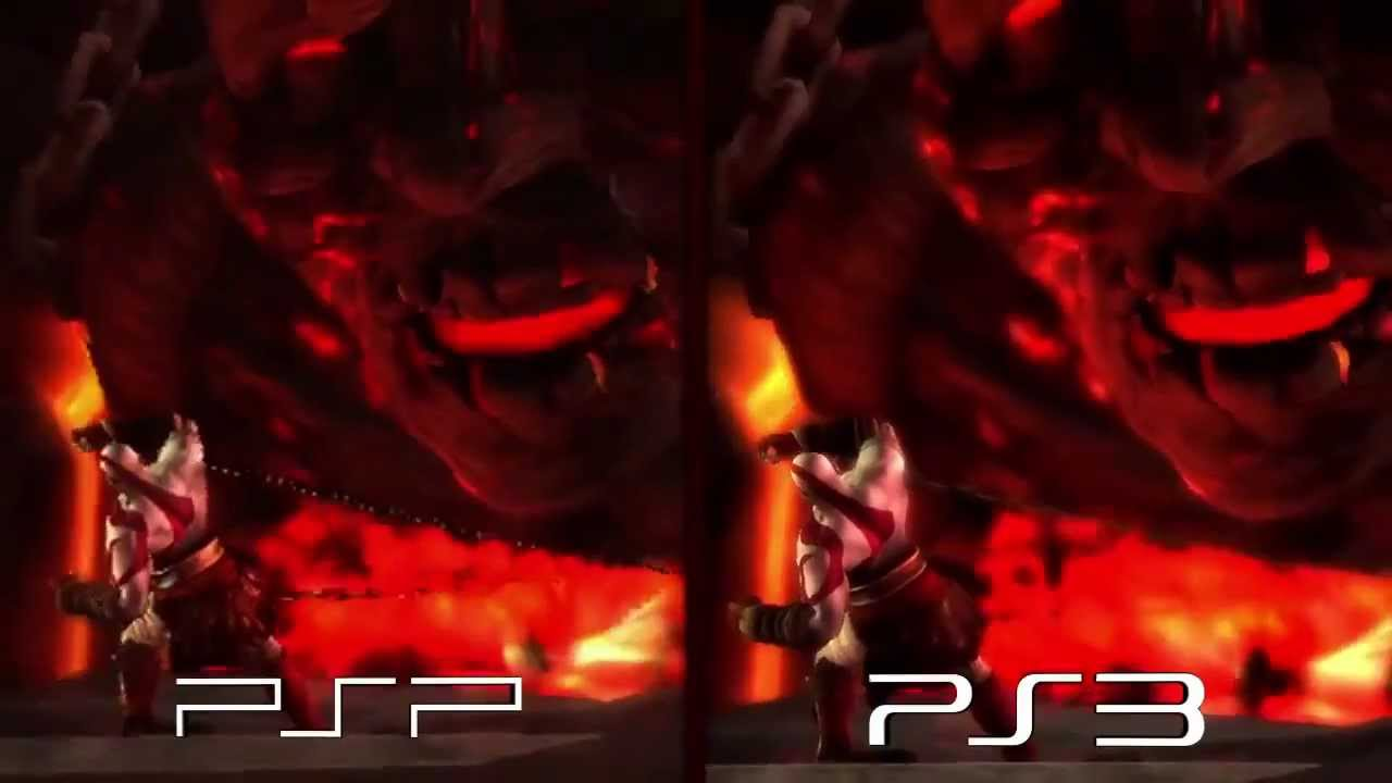 God of War Ghost of Sparta - PSP vs PS3 Comparison